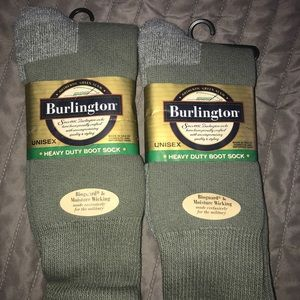Burlington military boot socks / 2 pair
